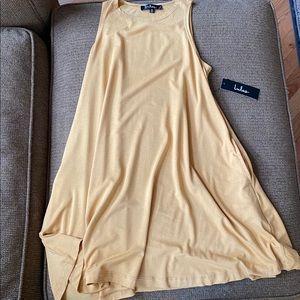 New Lulu's simply flawless mustard yellow dress XS